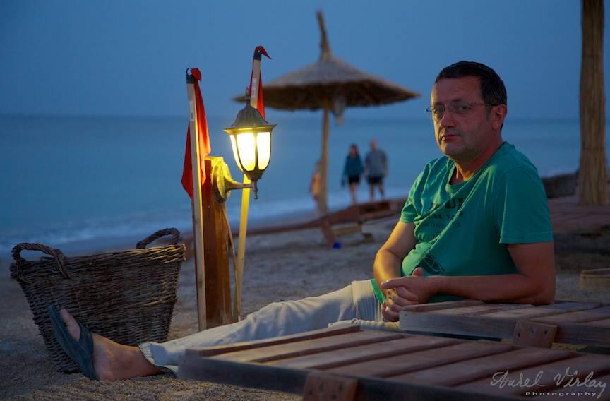 Portret fotografic Aurel Virlan la Plaja de Carte. Felinarele din primul an.