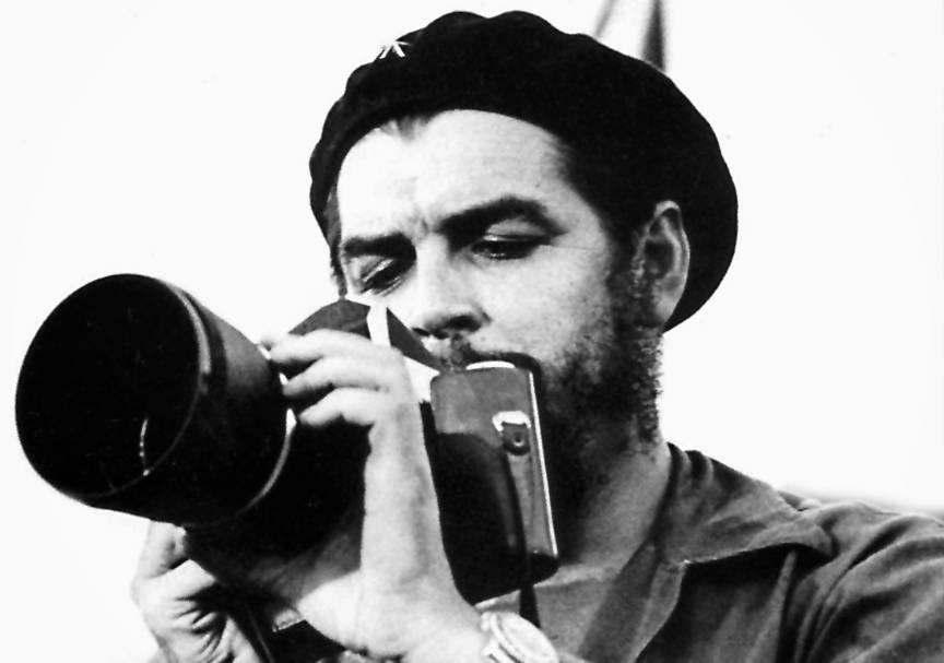 Che Ernesto Guevara (El Comandante) invatand Camera Foto Rolex.