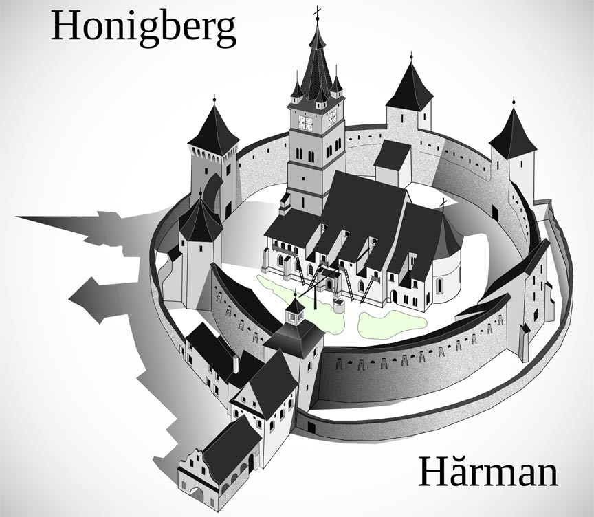 Schira Bisericii fortificate din Hārman.