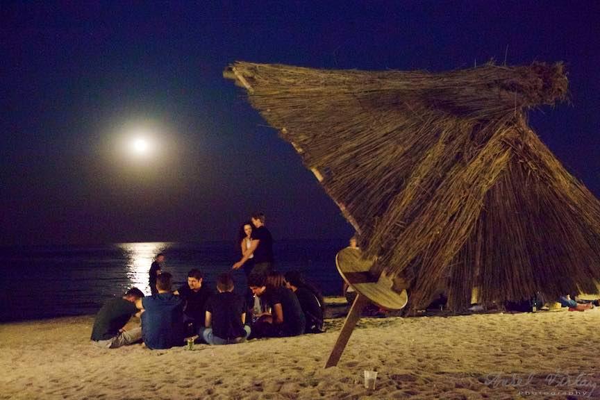Rasarit de Luna Plina la Plaja de Carte din Vama Veche.
