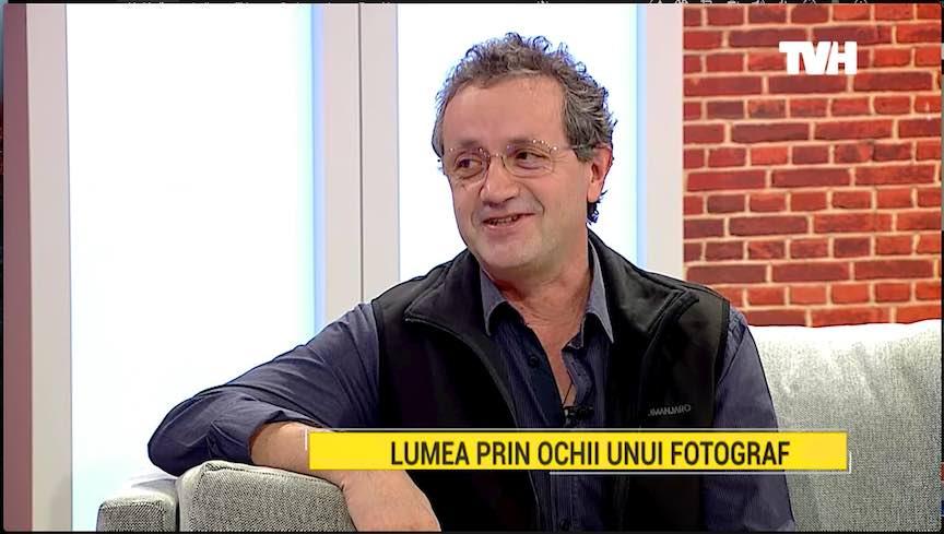 Fotograful Aurel Virlan in emisiunea Umbla Vorba TVH.