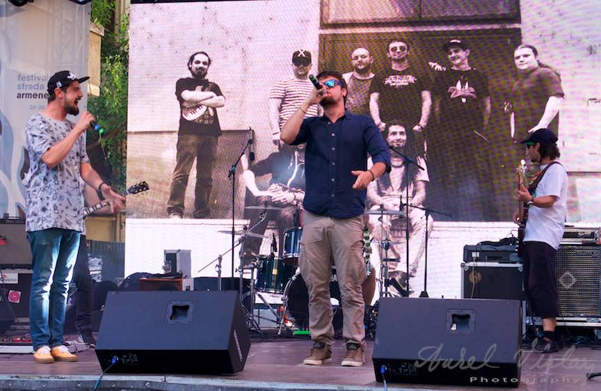 asska Band in concert pe Strada Armeneasca